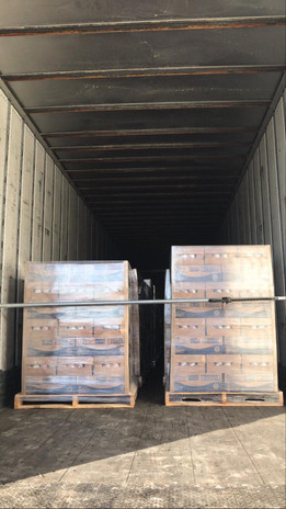 Waiting to be unloaded in the USA