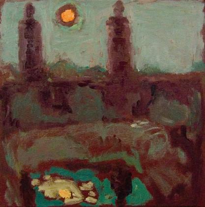 Night Music (12x12, oil; 2012)