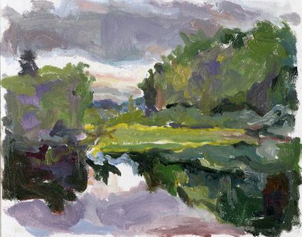 Adirondack Pond (8x10, oil; 2007)