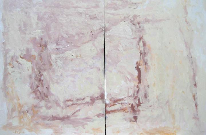 The Beach (30x80, diptych, oil; 2006)