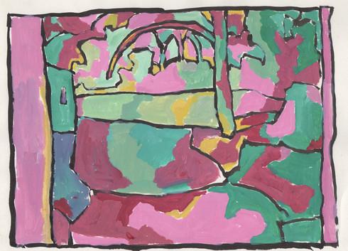 In Shade (7.5x10, acrylic; 2007)