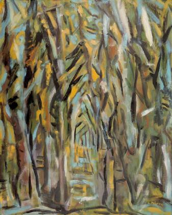 Wooded Path, Hide & Seek (30x24, oil; 2016)