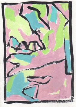 Early Spring (6x4, acrylic; 2007)