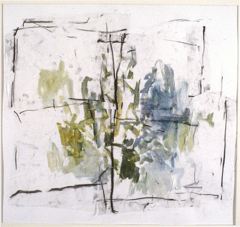 Garden Window (22x24, mixed media collage; 2001)