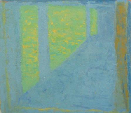 Terrace, Morning (16x16, oil; 2006)