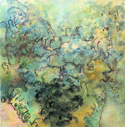 Pastel Gardens, Paths (12x12; 2019)