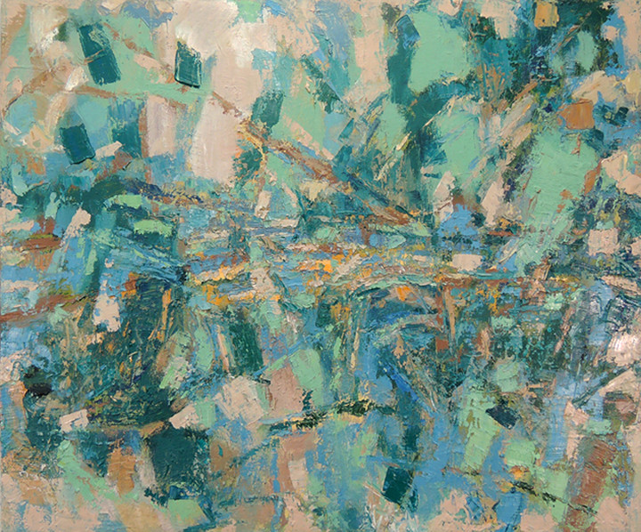 Blue Heron (30x36, oil; 2013)