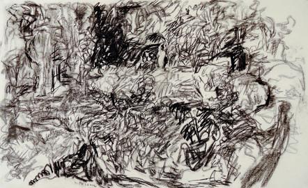 Night Drawing 2 (26x42, charcoal; 2013)