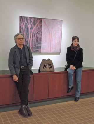 Geisel Gallery: Lanna Pejovic with co-exhibitor brother Dejan.