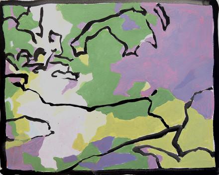 Redbud (8x10, acrylic; 2007)