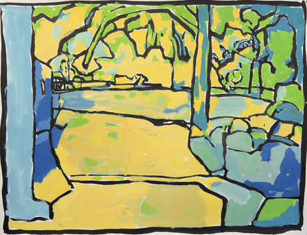 Spring (9x11, acrylic; 2007)