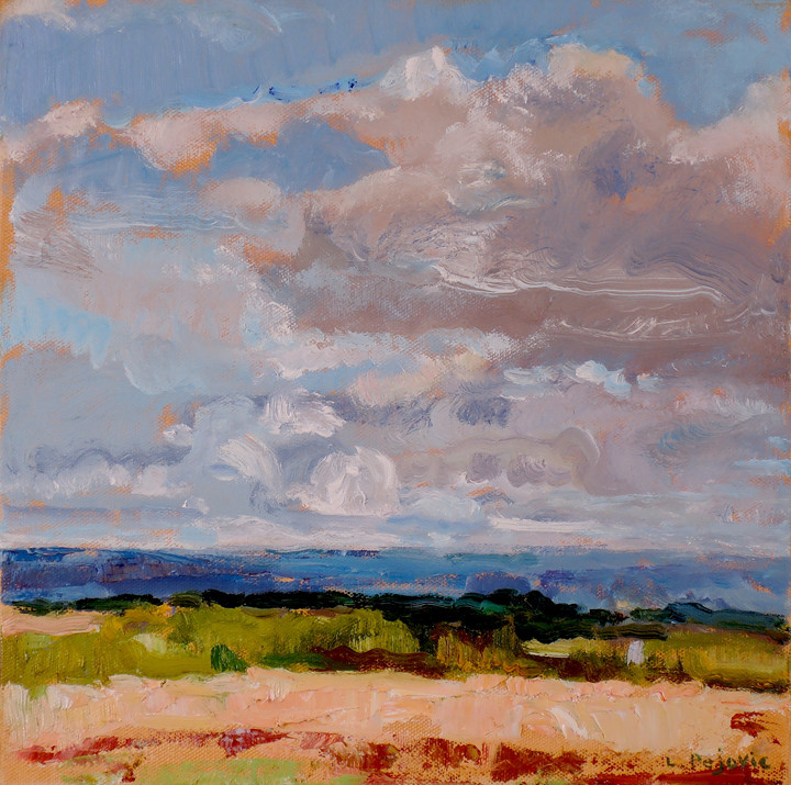 Genesee Valley Clouds (12x12, oil; 2018)