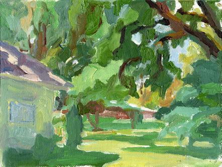 My Yard  (8x10, oil; 2007)