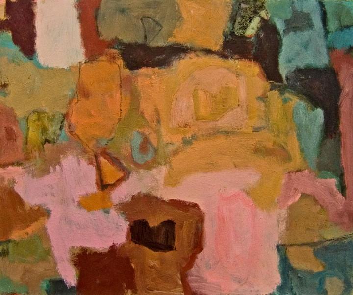 Floating Heart (16x20, oil; 2009)