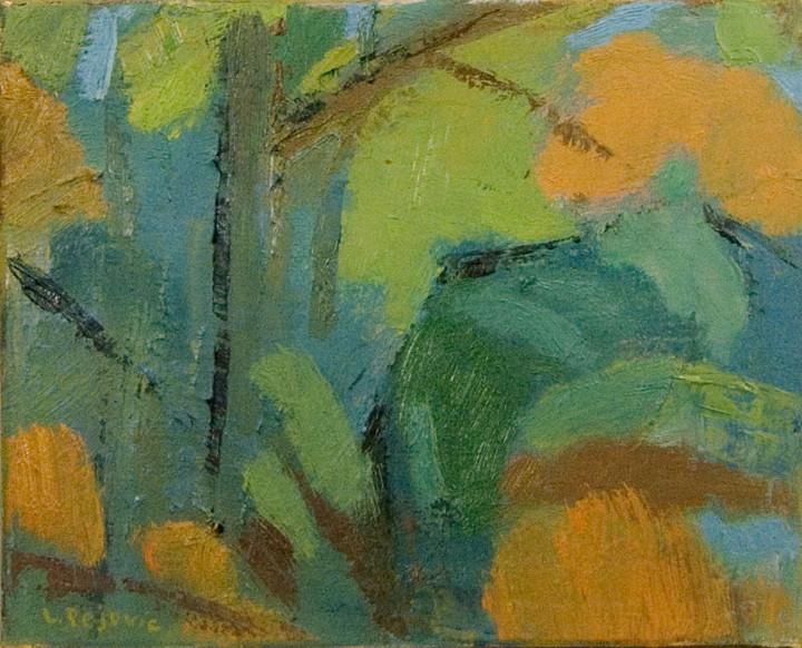 Yellow Path (8x10, oil; 2013)