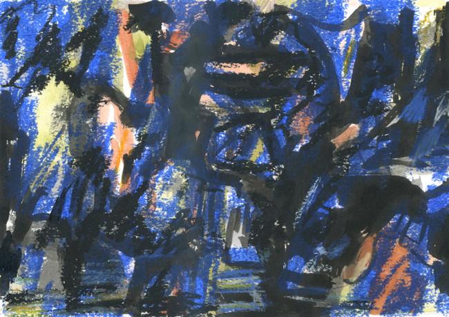 Meditations on the Wind 4 (5x7, mixed media; 2015)
