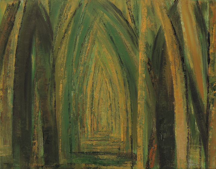 Wooded Path 5 (14x18, oil; 2014)