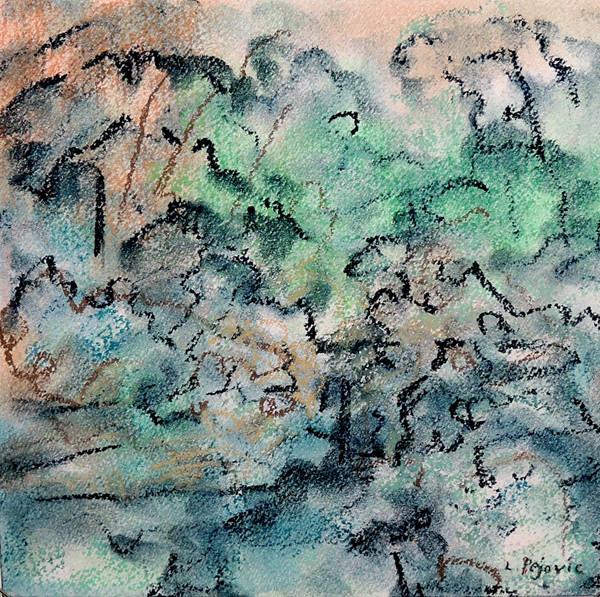 Pastel Gardens - Pink Sky (8x8; 2019)