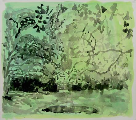 Summer Afternoon (19x21, acrylic; 2005)