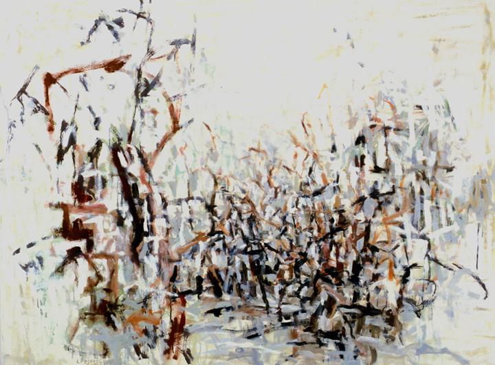 Winter Pond (52x70, oil; 2003)