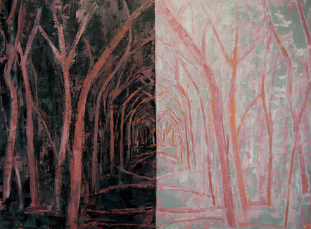 Wooded Path (36x48, oil; 2014)