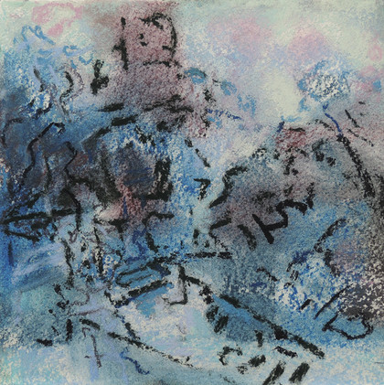 Pastel Gardens, Blue Light (8x8; 2019)
