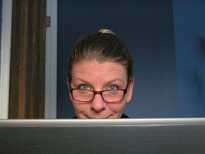 Karen behind the screen light.jpg