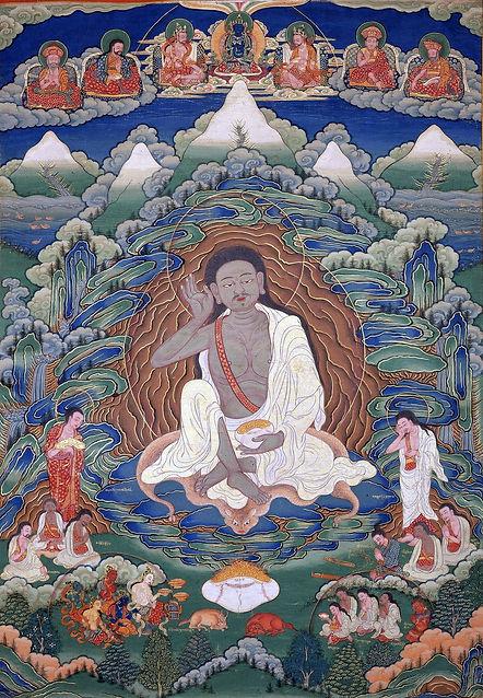 Bhutanese_painted_thanka_of_Milarepa_(1052-1135),_Late_19th-early_20th_Century,_Dhodeydrag