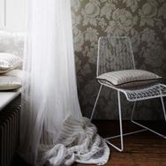 Helford Stripe Linen Sheer Fabric -Natur