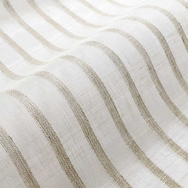 Newlyn Stripe Linen Sheer Fabric - Natur
