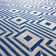 Maze Geometric Fabric - Cobalt.png