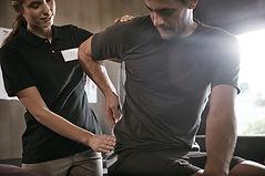 Courchevel Massage checking the pelvis
