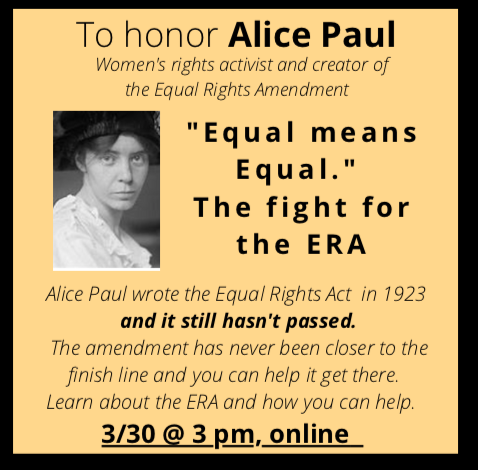 """""""Equal means Equal""""The fight for the ERA"""