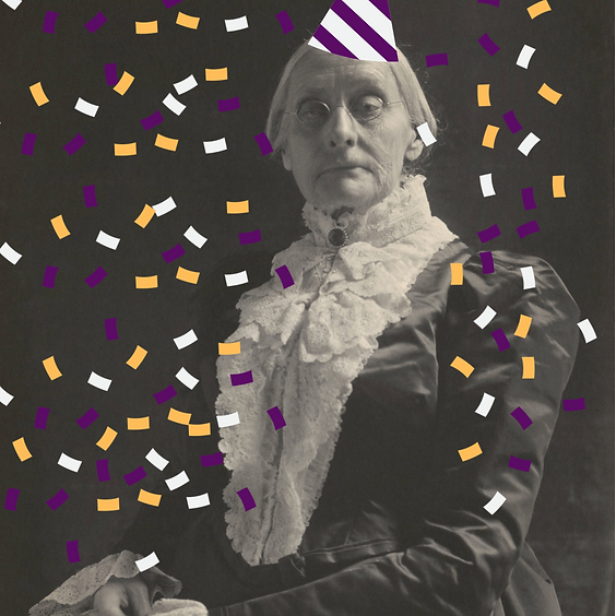 Birthday party for Susan B. Anthony at 10:00 o'clock