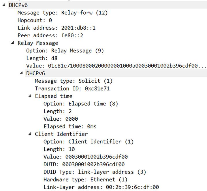 wireshark, IPv6, DHCP, DUID