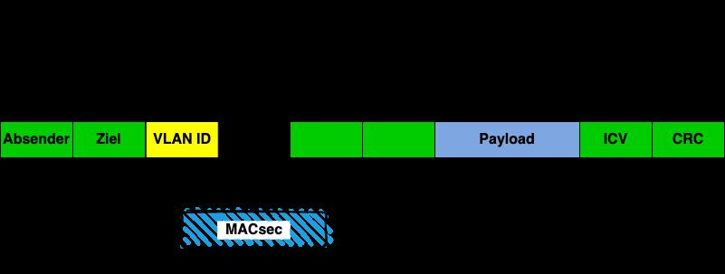 WAN MACsec 802.1AE ist abgebildet, die VLAN-ID und ICV sind unverschlüsselt.