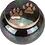 Thumbnail: Engraved Brass Raku Paw Print Jar Urn