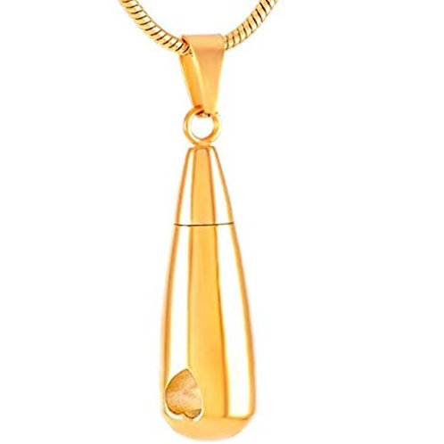 Gold Tone Teardrop with Heart