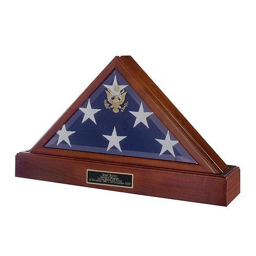 Flag Case with Pedestal Urn