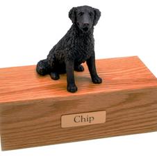 Dog Urn with Figurine