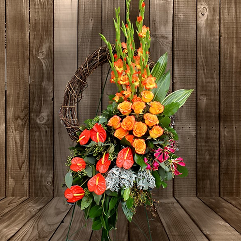 Tropical Paradise Grapevine Wreath