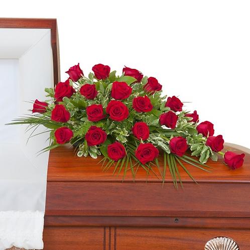 Simply Roses Half Casket Spray Standard