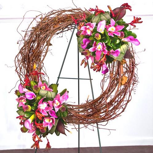 Sacred Garden Grapevine Wreath