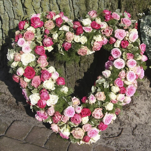Heart of Roses in Pink