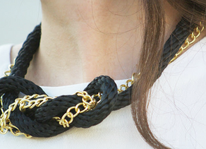 Nautical Rope & Chain Knot Necklace