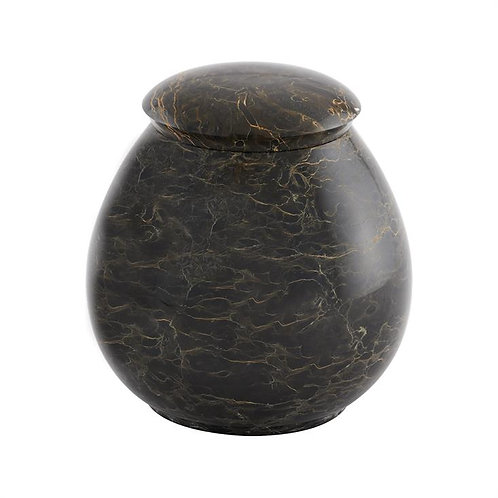 Tiger Eye Round with a Solid Marble Interior.