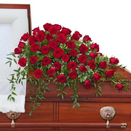 Simply Roses Half Casket Spray Premium