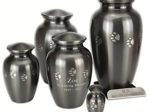 Brass Paw Print Vase Urn WithBase