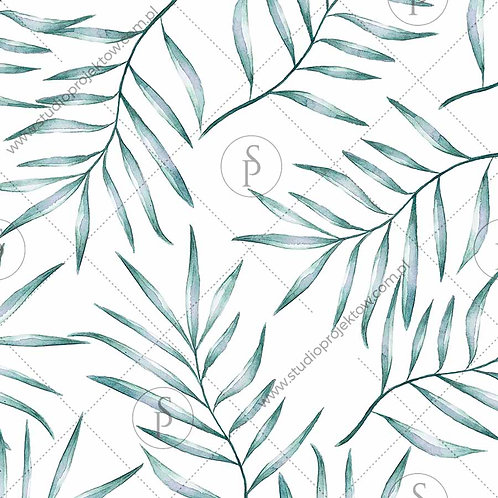 Liście palmy - zieleń