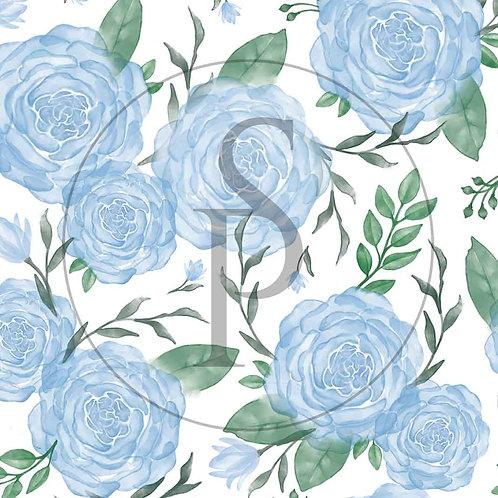 Róże akwarelowe - błękitne